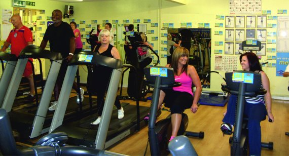 The gym at Horizon Health and Fitness, Portsmouth